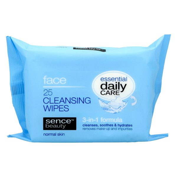 Sencebeauty Facial Cleansing Wipes 3in1 all skin